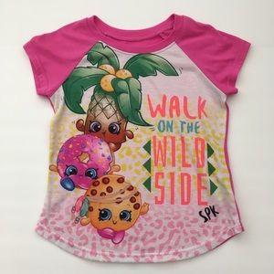Shopkins girls pajama top size 7/8